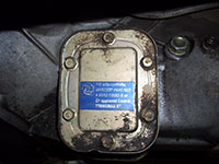ZF 5 speed transmission PTO cover