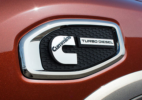Nissan Titan XD Cummins diesel fender badge
