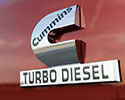 Cummins turbo diesel badge