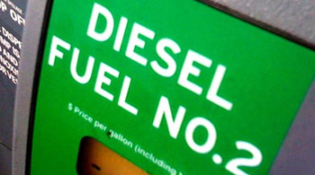 Diesel fuel pump label