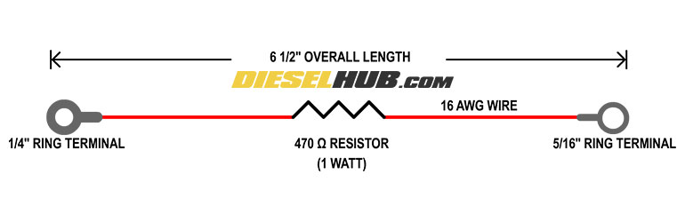 7.3L Power Stroke AIH delete code eliminator schematic
