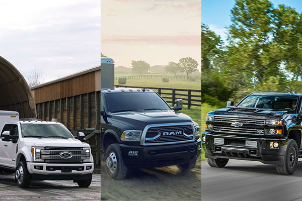 2017 Ford Super Duty, Dodge Ram, Chevy Silverado