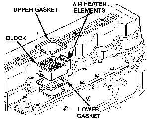 Cummins heater grid location