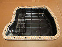 Transmission pan cleaned with new gasket