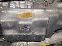 Remove transmission pan and pan gasket