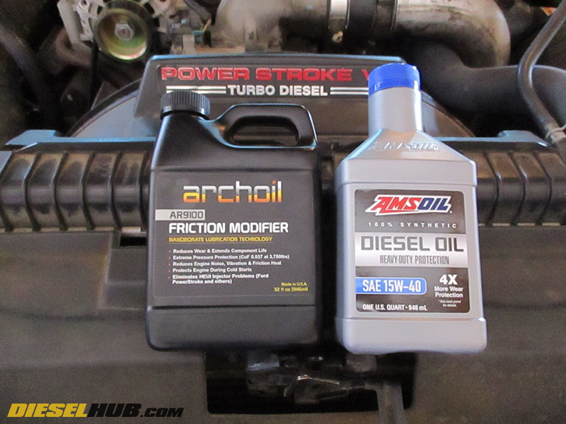 2004 ford f350 diesel oil change