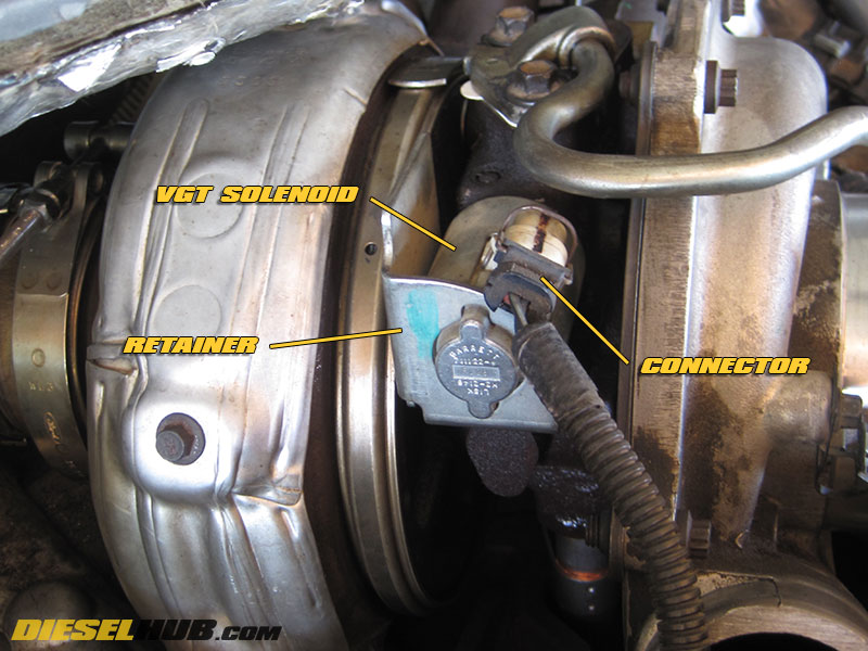 6 0l power stroke vgt solenoid replacement  u0026 troubleshooting