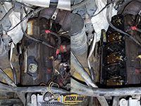Passenger side valve cover removal