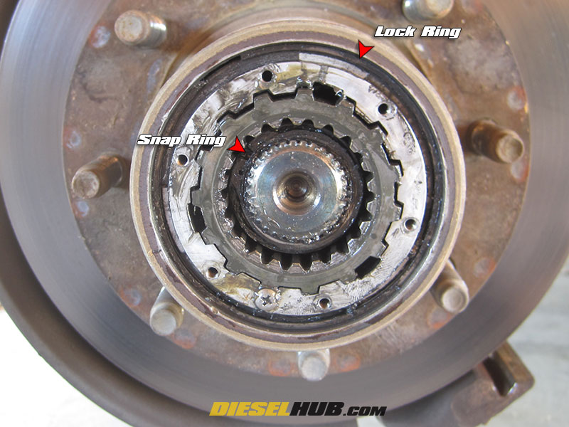 Dana 50 Ttb Warm Manual Hub Conversion Guide. Locking Hub Removal. GM. GM 10 Bolt Locking Hub Diagram At Scoala.co