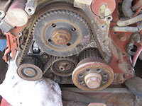 Removal of timing belt