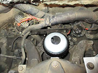 loosening fuel filter housing (FFM)