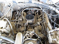 IDI diesel engine, air cleaner removed