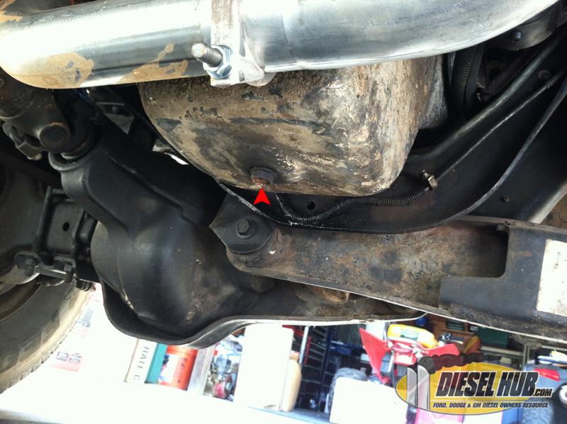 draining the engine oil