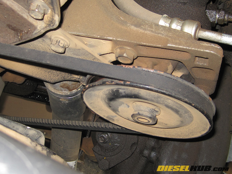 re-installing oil cooler on idi diesel engine