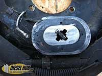 Worn electric trailer brake magnet